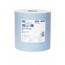 Tork blue hygiene wiper paper towel roll