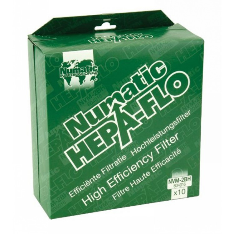 Numatic Hepaflo Vacuum Cleaner Bags Pack of 10 (NVM-2BH)