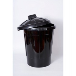 Plastic Dustbin With Lid  Large 80tr