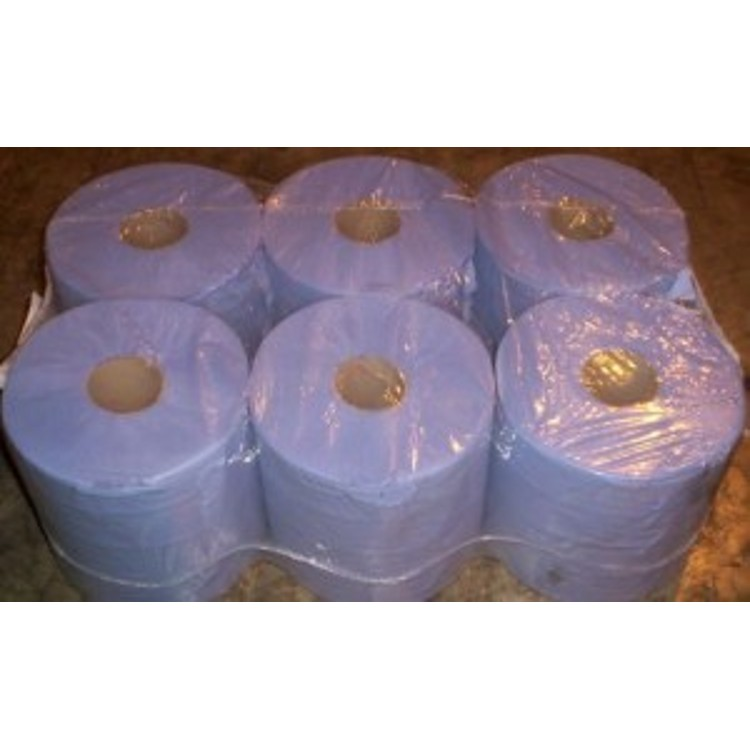 Centrefeed Rolls Paper towel 2ply Blue 6 x 150 Metres