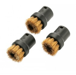 Karcher Round brush set with brass bristles for steam cleaners