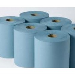 Green Embossed Paper Towel Roll 1 ply  6 x 175 metres per case