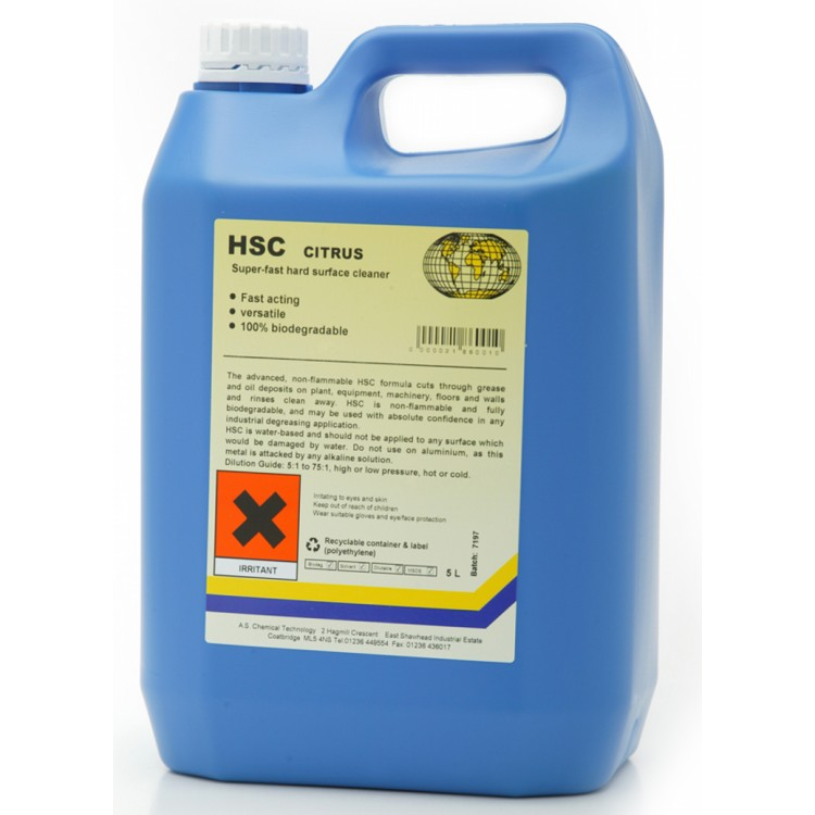 Hard Surface Cleaner Citrus 5Ltr