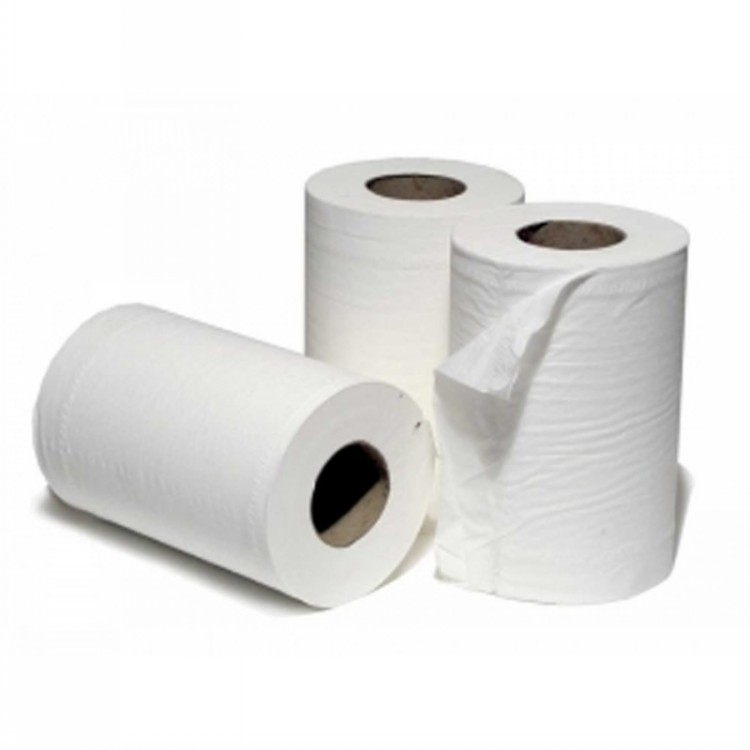 Mini Centrefeed Paper Towel Rolls White 2Ply 12 x 60metre