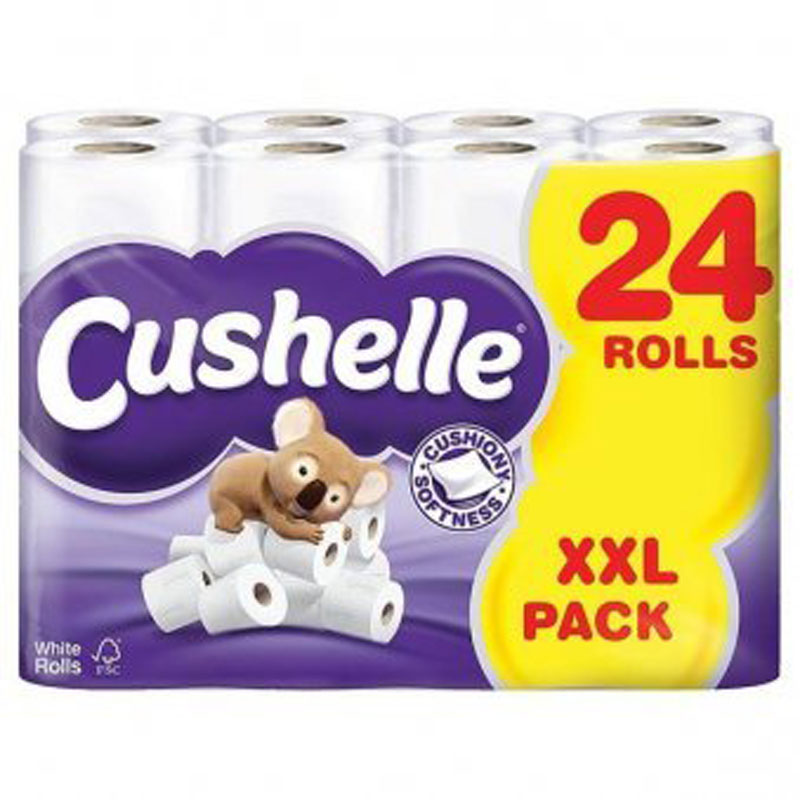 Cushelle Toilet Rolls Pack of 24 Rolls