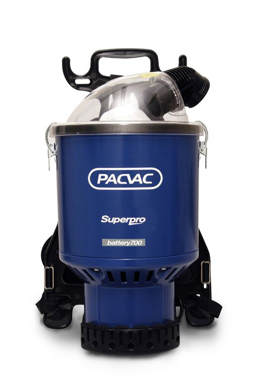 Pacvac Superpro 700 Backpack Vacuum Cleaner Battery Powered