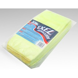 Microfibre Cloth Yellow Pk10