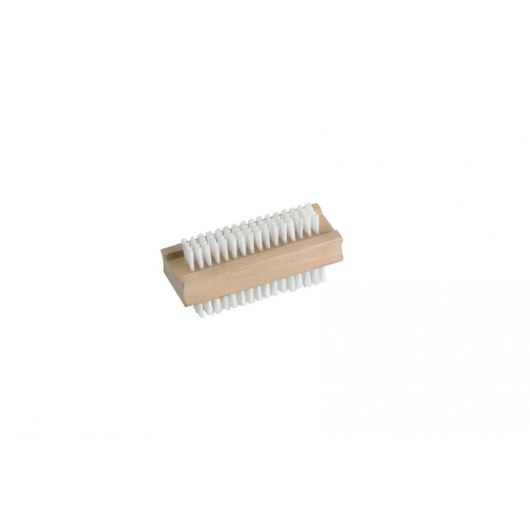 Wooden Nail Brush Filled With Nylon Pk12