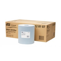 Tork Blue Roll Wiper 320 Centerfeed Paper Pack 6